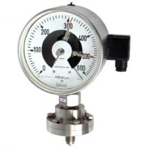 Absolute pressure gauge with diaphragm