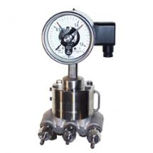 Differential pressure gauge with diaphragm
